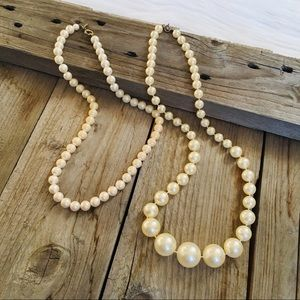 Vintage Pearl Necklace Set